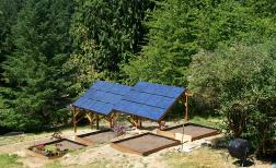 Ground mount Solar System in Gig Harbor off of Ray Nash Drive